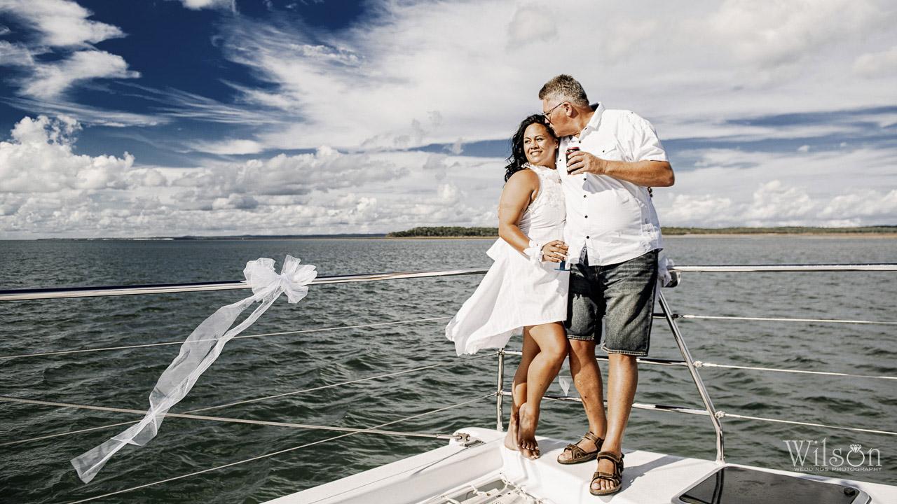 Wedding at sea   Hervey Bay wedding photography
