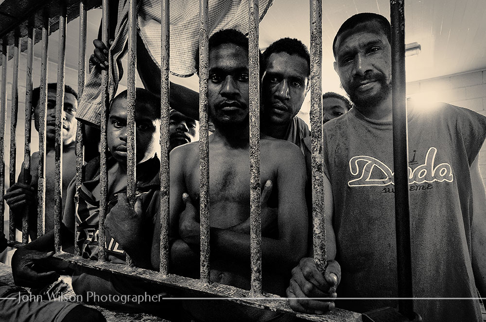 Behind Bars - Port Moresby - Photojournalism