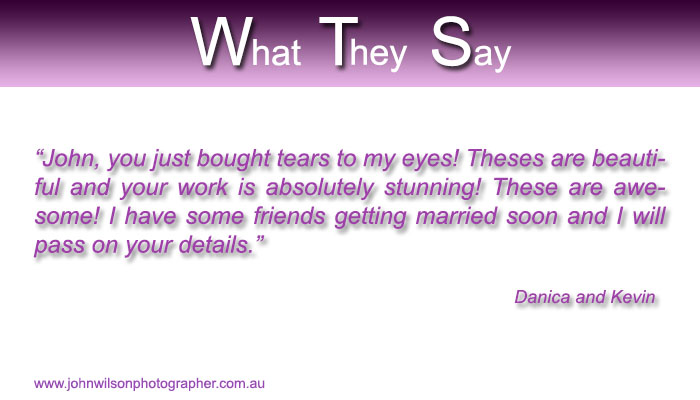 hervey bay wedding photographer testimonial