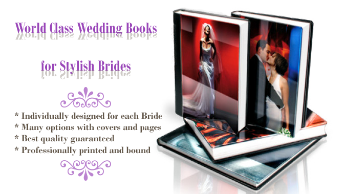 Custom designed wedding books