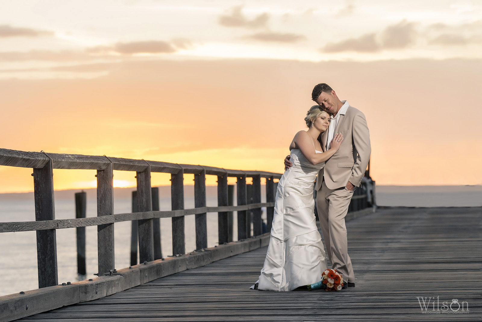 Sahra and Darren Kingfisher Bay Resort Wedding
