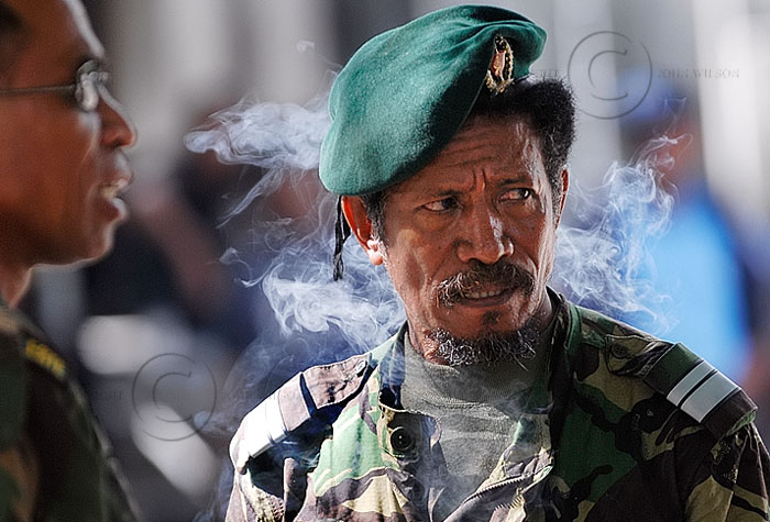 Portrait of East Timor Commander