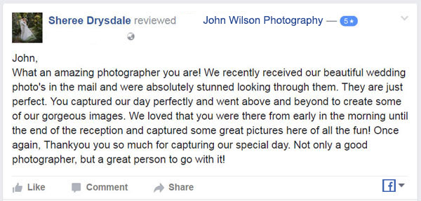 Facebook Review Fraser Is Wedding photographer01