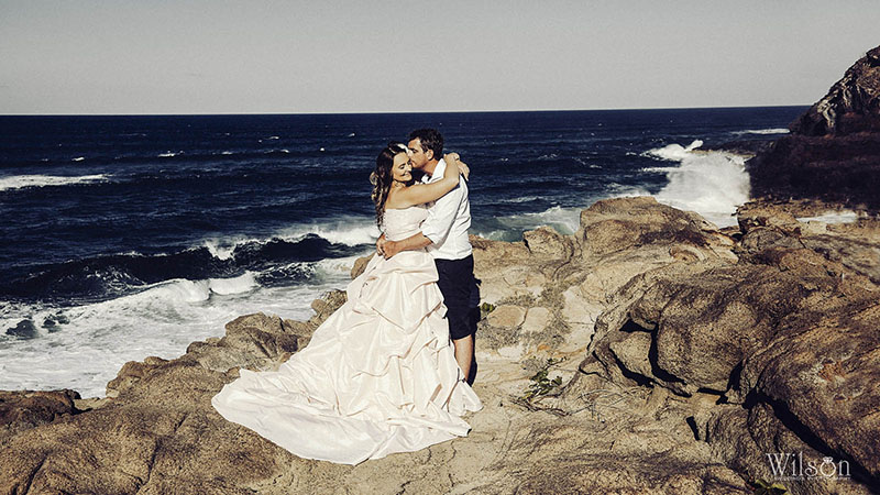 Beach wedding photography Fraser Island style