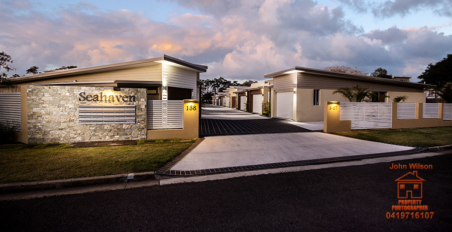 Twilight real estate photography Hervey Bay