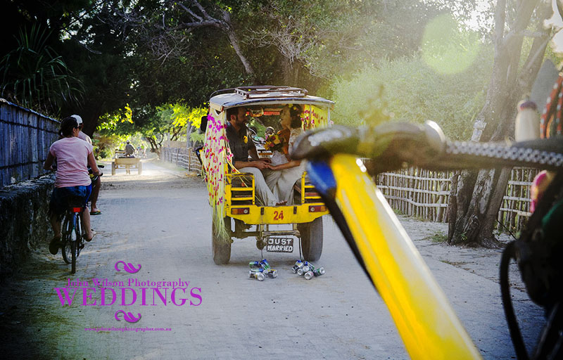 Horse and cart wedding Gili Trawangan