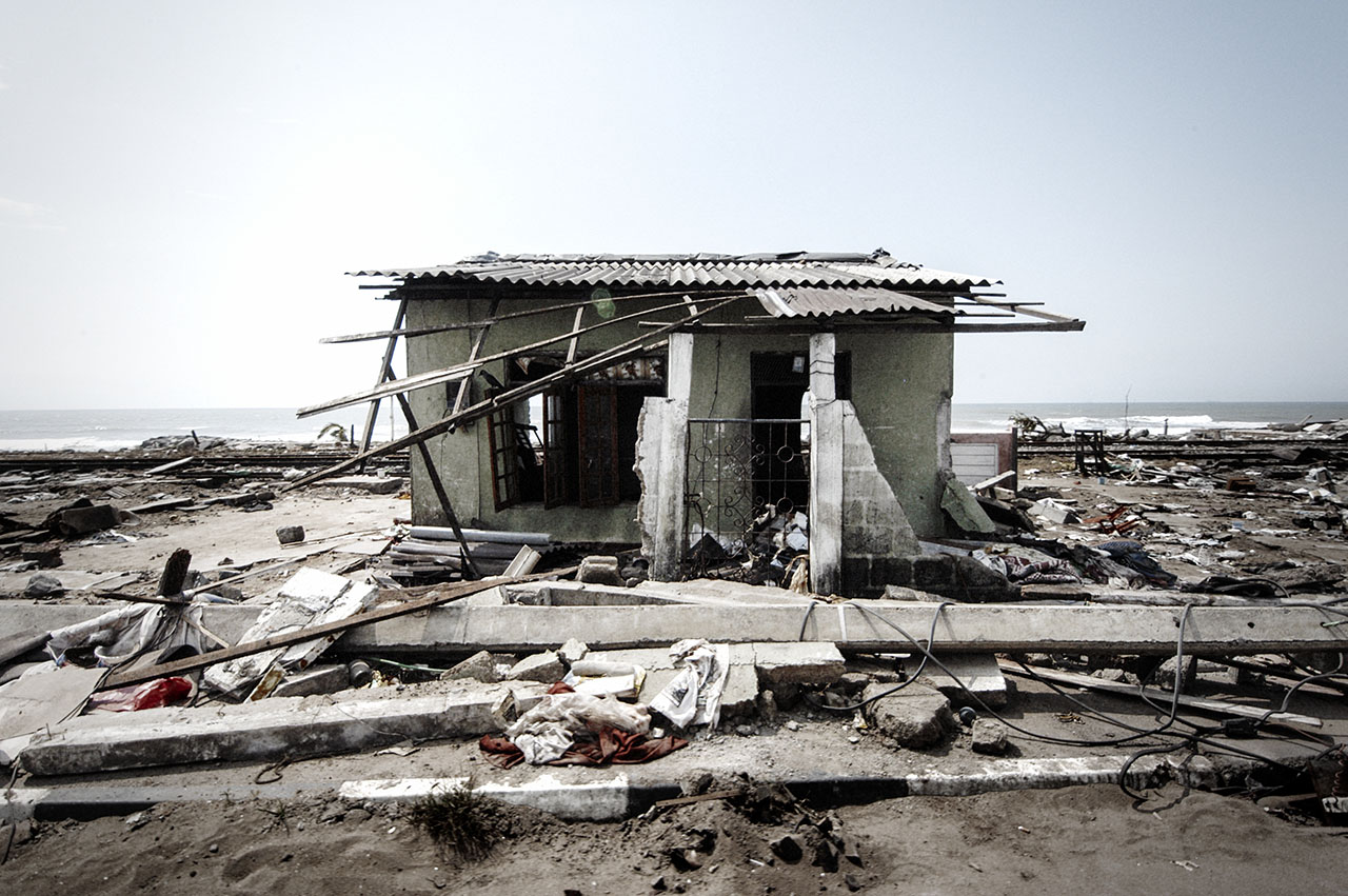A home that survived the 2004 tsunami in Sri lanka.