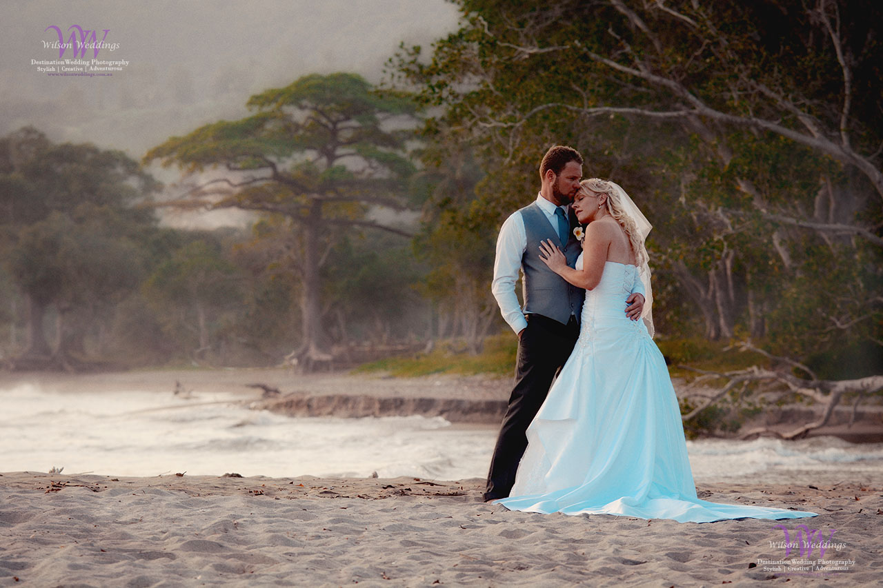 Beach wedding photography in Vanuatu