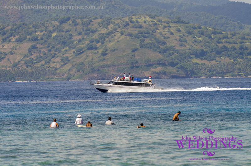 High speed boat transfer between Bali and Gili Is