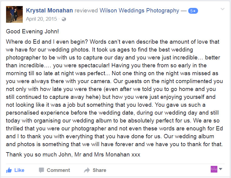 Facebook Review Hervey BayWedding photographer03