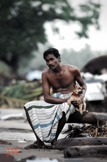 Sri Lanka tsunami survivor Aragum Bay 2004 by John Wilson Photographer