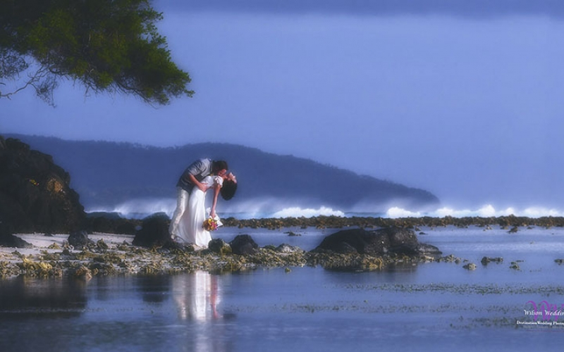 Hervey bay Fraser island wedding photo